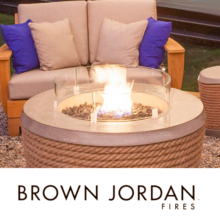 Island lanai fire accents for Brown jordan fires